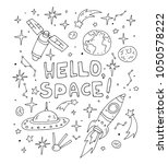 hello spase set collection.... | Shutterstock .eps vector #1050578222