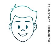 young man face cartoon | Shutterstock .eps vector #1050578486