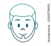 young man face cartoon | Shutterstock .eps vector #1050578492