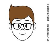 young man face cartoon | Shutterstock .eps vector #1050580856