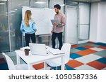 female professional tutor...   Shutterstock . vector #1050587336