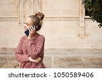 portrait beautiful student girl ... | Shutterstock . vector #1050589406