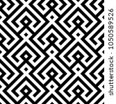 geometric monochrome pattern.... | Shutterstock .eps vector #1050589526