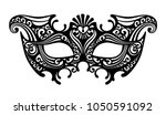 black silhouette of a... | Shutterstock . vector #1050591092