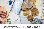 euro money. euro cash... | Shutterstock . vector #1050591656