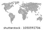 geographic map collage... | Shutterstock . vector #1050592706