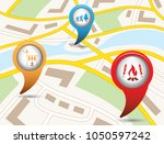 set of tourism services map... | Shutterstock .eps vector #1050597242