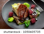simple and elegant fine dining... | Shutterstock . vector #1050605735