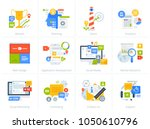 set of flat design style... | Shutterstock .eps vector #1050610796