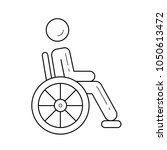 handicap vector line icon... | Shutterstock .eps vector #1050613472
