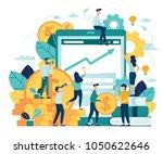 vector illustration of virtual... | Shutterstock .eps vector #1050622646