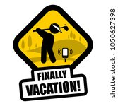 golf funny sign | Shutterstock .eps vector #1050627398