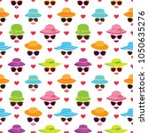 vector seamless pattern with... | Shutterstock .eps vector #1050635276