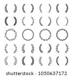 collection of different black... | Shutterstock .eps vector #1050637172