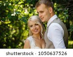 wedding day  just married...   Shutterstock . vector #1050637526