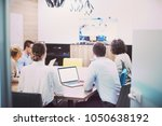 group of a young business... | Shutterstock . vector #1050638192