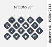 set of 16 editable teach icons. ...
