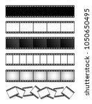 collection of film strip  movie ... | Shutterstock .eps vector #1050650495