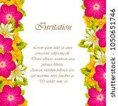 beautiful elegant frame of... | Shutterstock .eps vector #1050651746