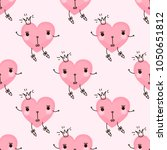cute seamless pattern with... | Shutterstock .eps vector #1050651812
