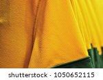 brazil yellow sport shirt detail | Shutterstock . vector #1050652115