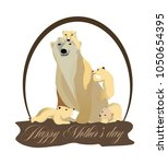 concept to mother s day  cubs... | Shutterstock .eps vector #1050654395