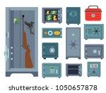 money safe steel vault door... | Shutterstock .eps vector #1050657878