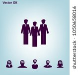 image of a group of businessmen.... | Shutterstock .eps vector #1050658016