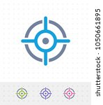 crosshairs   mix icons. a... | Shutterstock .eps vector #1050661895