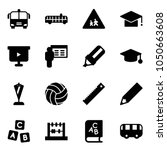 solid vector icon set   airport ... | Shutterstock .eps vector #1050663608