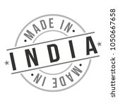 made in india asia travel stamp ... | Shutterstock .eps vector #1050667658