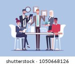 team business people working... | Shutterstock .eps vector #1050668126