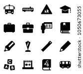 solid vector icon set   airport ... | Shutterstock .eps vector #1050673055