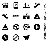 solid vector icon set   airport ... | Shutterstock .eps vector #1050674492