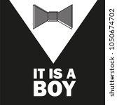 gentelman. the bow tie   baby...   Shutterstock .eps vector #1050674702
