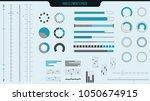 set of vector hud elements for...