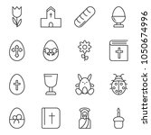 thin line icon set   egg stand... | Shutterstock .eps vector #1050674996