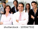 successful business team at the ... | Shutterstock . vector #105067532