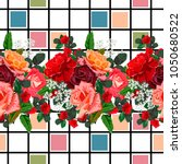 seamless pattern with beautiful ... | Shutterstock .eps vector #1050680522