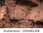 native american indian ruins...   Shutterstock . vector #1050681308