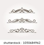 set with three fancy page... | Shutterstock .eps vector #1050684962