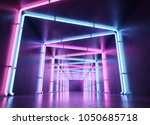 neon abstract background | Shutterstock . vector #1050685718