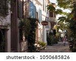 cunda turkey   august 30  2017  ...   Shutterstock . vector #1050685826