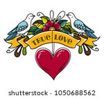 illustration with ribbon... | Shutterstock .eps vector #1050688562