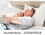 father and daughter enjoying... | Shutterstock . vector #1050690818