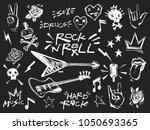 rock n roll elements collection.... | Shutterstock .eps vector #1050693365