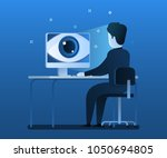 concept of spying. big brother... | Shutterstock .eps vector #1050694805