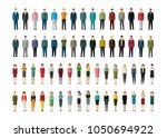 set of businessmen and... | Shutterstock .eps vector #1050694922