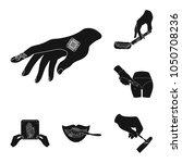 manipulation by hands black... | Shutterstock .eps vector #1050708236