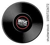 gramophone vinyl record with... | Shutterstock .eps vector #1050722672